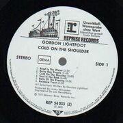 LP - Gordon Lightfoot - Cold On The Shoulder - Trade Sample