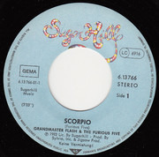 7inch Vinyl Single - Grandmaster Flash & The Furious Five - Scorpio