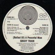 LP - Gravy Train - (A Ballad Of) A Peaceful Man - Original Swirl Vertigo