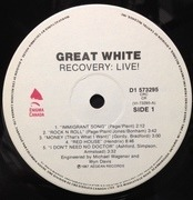 LP - Great White - Recovery: Live!