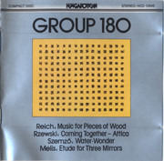 CD - Steve Reich / Tibor Szemzö / Laszlo Melis a.o. - Music For Pieces Of Wood / Water-Wonder / Etude For Three Mirrors a.o.