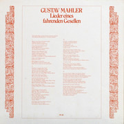 LP - Mahler - Furtwängler - Lieder Eines Fahrenden Gesellen - Still sealed / Mono