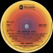 LP - Hank Thompson - The Thompson Touch