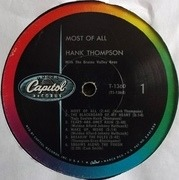 LP - Hank Thompson - Most Of All
