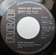 7inch Vinyl Single - Harry Belafonte - Banana Boat Song - Black labels
