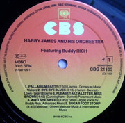 LP - Harry James And His Orchestra Featuring Buddy Rich - I Love Jazz - Mono