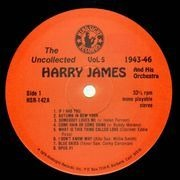 LP - Harry James And His Orchestra - The Uncollected Vol. 5 1943-1953 - prev unreleased