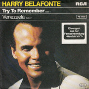 7'' - Harry Belafonte - Try To Remember
