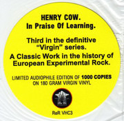 LP - Henry Cow - In Praise Of Learning