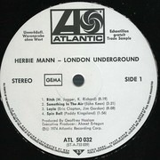 LP - Herbie Mann - London Underground - Trade Sample