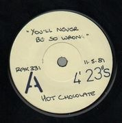 7inch Vinyl Single - Hot Chocolate - You'll Never Be So Wrong - test pressing