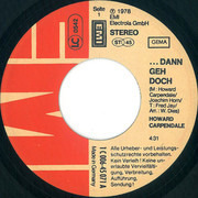 7inch Vinyl Single - Howard Carpendale - ... Dann Geh Doch - Teldec Pressing