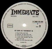 LP - Humble Pie - As Safe As Yesterday Is