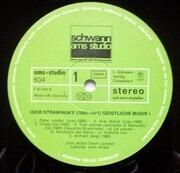 LP - Igor Stravinsky , John Alldis Choir , John Alldis , Vokal-Ensemble 'Strawinsky-Fest '71', Düsseldor - Geistliche Musik 1