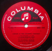 LP - Stravinsky - Symphony In Three Movements • Pulcinella Suite - Mono