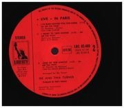 Double LP - Ike & Tina Turner - Live In Paris - Olympia 1971