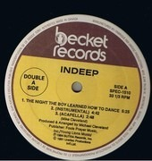 12inch Vinyl Single - Indeep - The Night The Boy Learned How To Dance / The Record Keeps Spinning