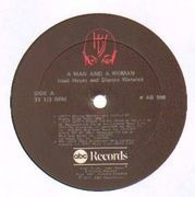 Double LP - Isaac Hayes & Dionne Warwick - A Man And A Woman - die-cut, black labels