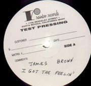 LP - James Brown & The Famous Flames - I Got The Feelin' - white label test pressing