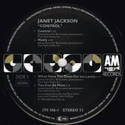 LP - Janet Jackson - Control - black labels