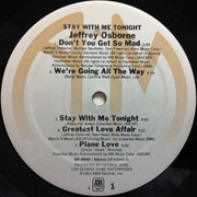 LP - Jeffrey Osborne - Stay With Me Tonight - Monarch pressing