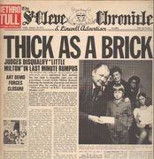 LP - Jethro Tull - Thick As A Brick - Newspaper Cover, Original