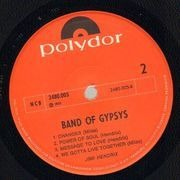 LP - Jimi Hendrix - Band Of Gypsys - puppet cover
