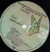 LP - Jim Morrison Music By The Doors - An American Prayer - BUTTERFLY LABELS