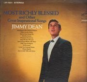 LP - Jimmy Dean - Most Richly Blessed (And Other Great Inspirational Songs)