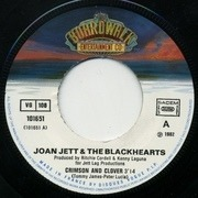 7inch Vinyl Single - Joan Jett & The Blackhearts - Crimson And Clover • Oh Woe Is Me