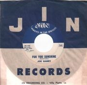 7inch Vinyl Single - Joe Barry - Teardrops In My Heart - Original US, Company Sleeve