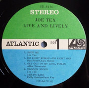LP - Joe Tex - Live And Lively