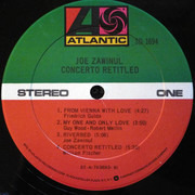LP - Joe Zawinul - Concerto Retitled