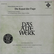 Double LP - Bach - Die Kunst Der Fuge
