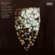 LP - Johannes Brahms - James King , The Ambrosian Singers , New Philharmonia Orchestra , Claudio Abbado - 'Rinaldo' / 'Schicksalslied' (Song Of Destiny) - + insert