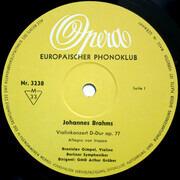 10'' - Johannes Brahms , Bronislaw Gimpel , Berliner Symphoniker , Arthur Grüber - Violinkonzert D-dur Op. 77