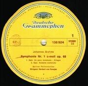 LP - Johannes Brahms/  Herbert von Karajan , Berliner Philharmoniker - Symphonie Nr. 1 C-Moll Op. 68