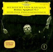 LP - Johannes Brahms , Herbert von Karajan , Berliner Philharmoniker - Symphonie Nr. 1 C-Moll Op. 68