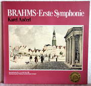 LP - Brahms - Ančerl w/ Czech Philharmonic Orchestra - Symphonie Nr. 1 C-moll Op. 68 - Embossed / Club-Edition