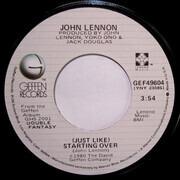 7inch Vinyl Single - John Lennon - (Just Like) Starting Over - Winchester Press