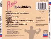 CD - John Miles - Rebel