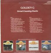 LP - Johnny Cash and June Carter, David Houston and Barbara Mandrell - Golden G Great Country Duets