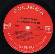 LP - Johnny Cash - At Folsom Prison - Stereo 360 Sound