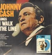 Double LP - Johnny Cash - Sings I Walk The Line - LP + Blue 7inch (Folsom Prison Blues)