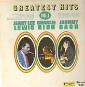LP - Johnny Cash / Jerry Lee Lewis / Charlie Rich - Greatest Hits Volume I