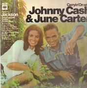 LP - Johnny Cash & June Carter - Carryin' On with Cash and Carter