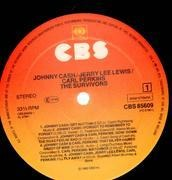 LP - Johnny Cash, Jerry Lee Lewis, Carl Perkins - The Survivors