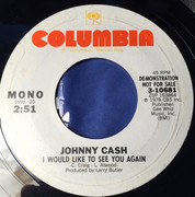7inch Vinyl Single - Johnny Cash - I Would Like To See You Again