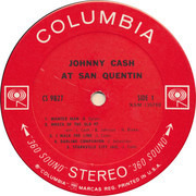 LP - Johnny Cash - Johnny Cash At San Quentin - First press