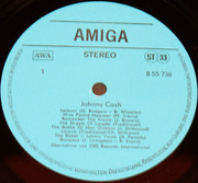 LP - Johnny Cash - Johnny Cash - Blue Labels, Amiga Edition